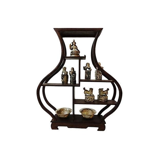 10-Piece Miniature Wood Stand & Decor Set - Image 7 of 7