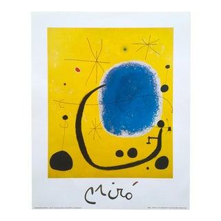 """Joan Miro Vintage 1999 Surrealist Lithograph Print """"L'Oro Dell' Azzurro"""" 1935"""