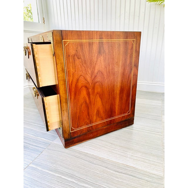 Japanese Chinoiserie Drexel Rosewood Chest of 2 Drawers For Sale - Image 3 of 13