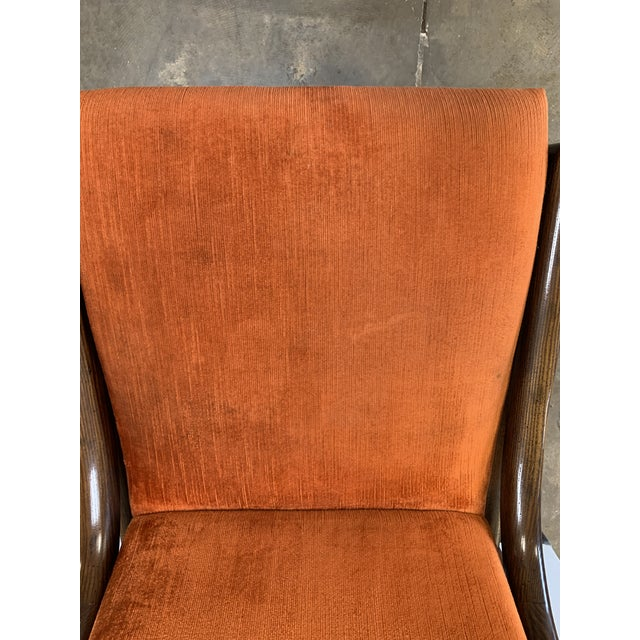 1970s Vintage Henredon Walnut Dining Chairs- Set of 8 For Sale - Image 10 of 13