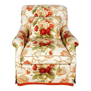Large Bridgewater Upholstered Chair in Cowtan and Tout Fabric For Sale