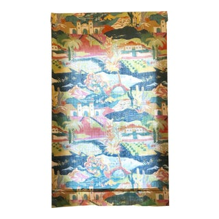 Multicolored Mexican Scene Pattern Roman Shade For Sale