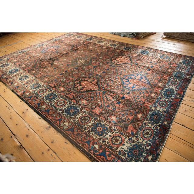 "Old New House Vintage Baktiari Carpet - 7'1"" X 9'11"" For Sale - Image 4 of 12"