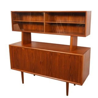 Room Divider / Danish Teak Tambour Door 2-Piece Sideboard Preview