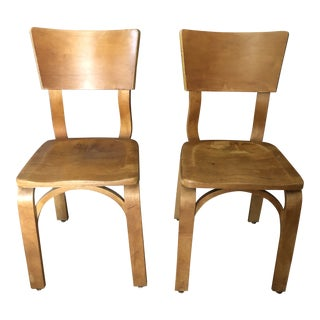 Mid-Century Thonet Bentwood Chairs - a Pair For Sale