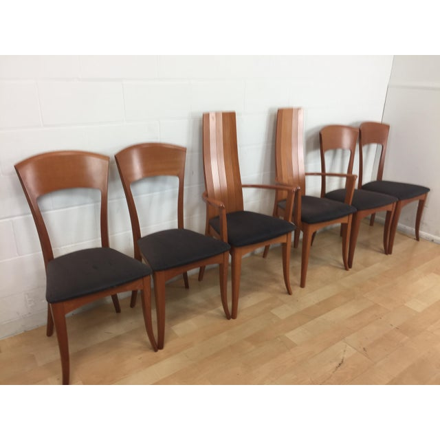 A. Sibau Italian Mid-Century Modern Dining Chairs- Set of 6 For Sale - Image 5 of 11