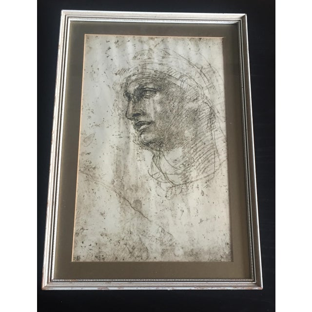 "Michelangelo ""Head of a Youth"" British Museum Fine Art Print - Image 2 of 7"