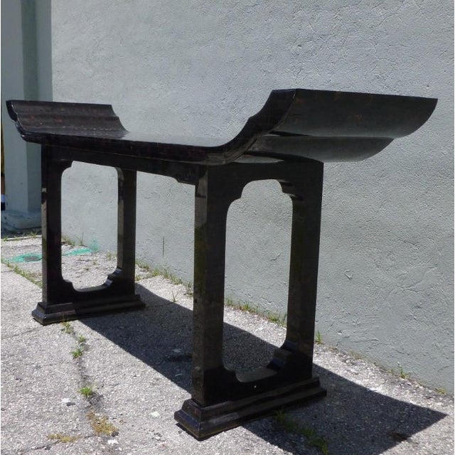 Maitland - Smith 1970s Maitland Smith Tessellated Horn Console Table For Sale - Image 4 of 11