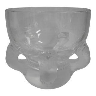 Lalique l'Hibou Owl Bowl For Sale