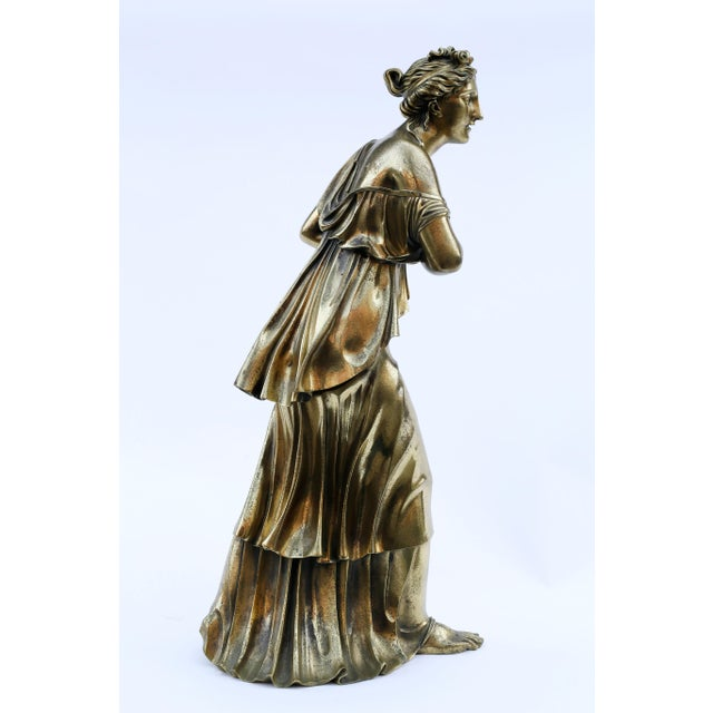 18th Century Neoclassical Bronze Doré Sculpture of a Woman For Sale - Image 9 of 11