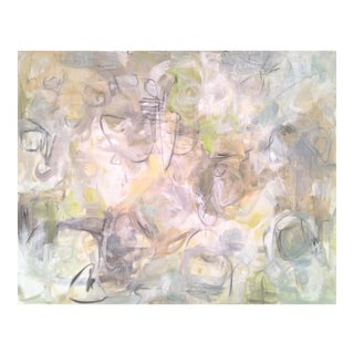 """Neutral Abstract Oil Painting by Trixie Pitts """"Into the Mystic"""""""