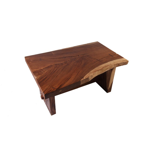 Organic Modern Living Edge Dining Table For Sale - Image 4 of 6
