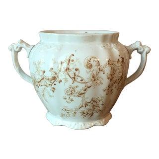 Antique English Porcelain Cachepot For Sale