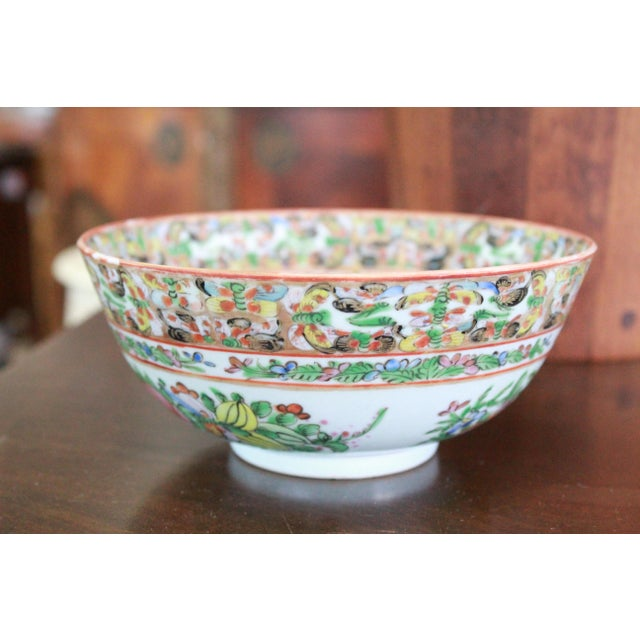 Vintage Chinese Famille Bowl For Sale - Image 9 of 9