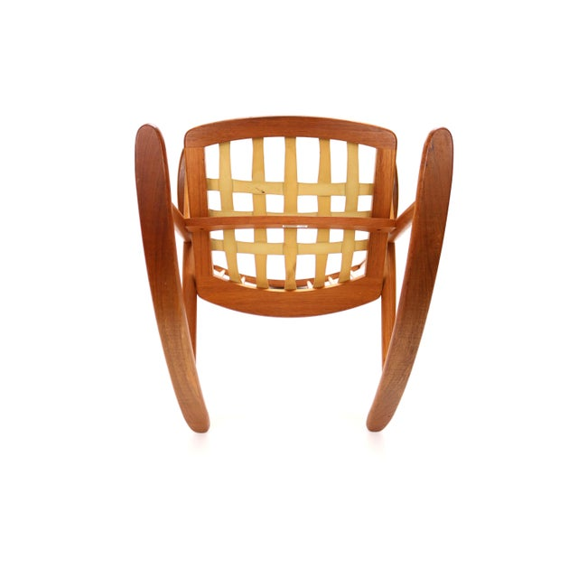 Vintage Frank Reenskaug for Bramin Mobler Danish Teak Rocking Chair For Sale - Image 10 of 12