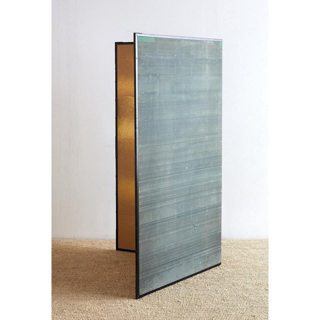 Japanese Two-Panel Gold Leaf Screen by Yoshikawa For Sale - Image 12 of 13