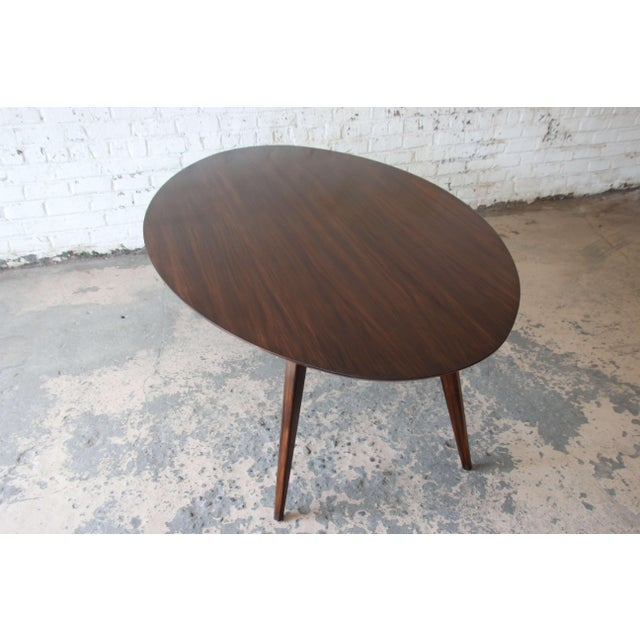 Walnut Knoll Walnut Eliptical Dining or Conference Table For Sale - Image 7 of 10