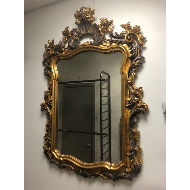 Carved Gold Gilt Mirror For Sale - Image 10 of 10