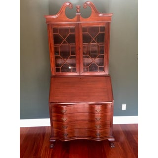 Early 20th Century Vintage Governor Winthrop Style Secretary Desk Preview