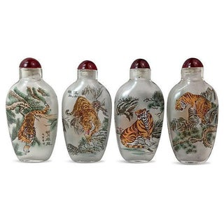 Chinese Painted Snuff Bottles - Set of 4 For Sale