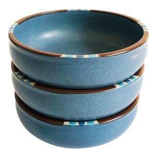 Vintage Dansk Mesa Sky Soup Bowls - Set of 3 For Sale