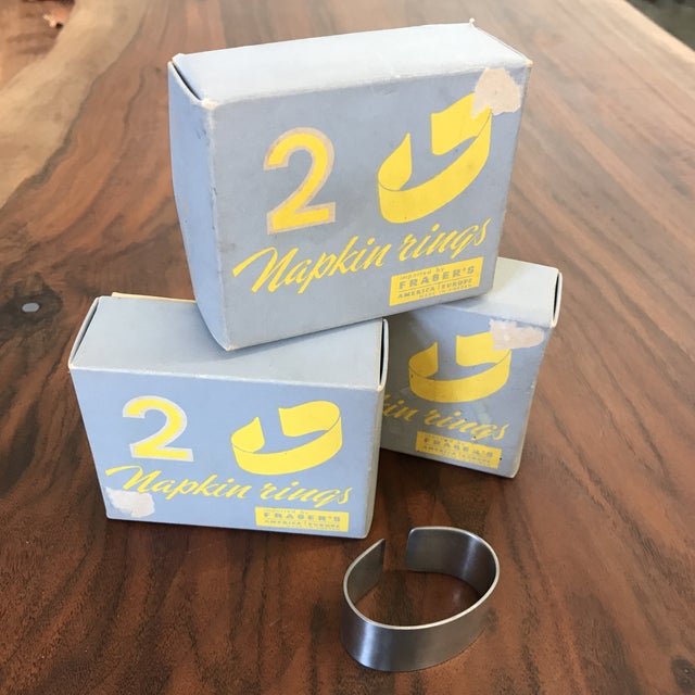 Set of 5 Swedish Napkin Rings by Cultura For Sale - Image 12 of 13