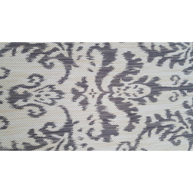 Woven Ikat Reversible Fabric Remnant For Sale - Image 5 of 6