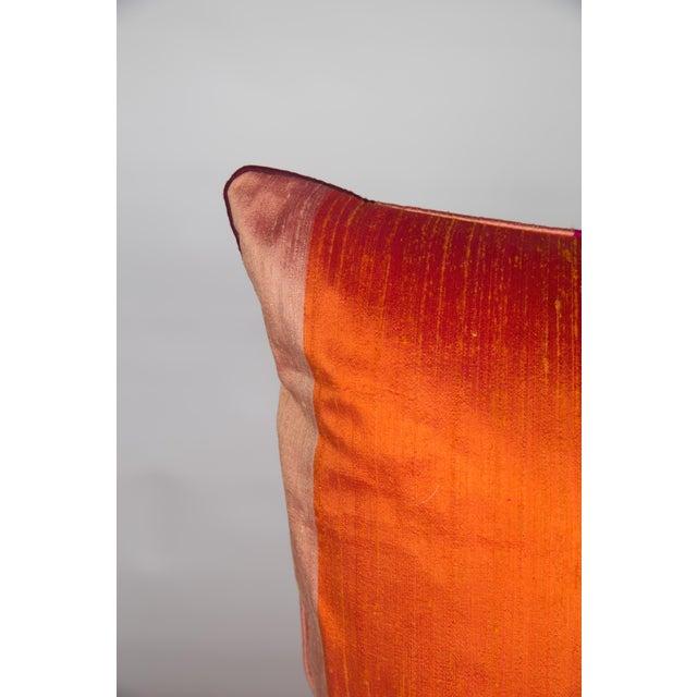 Silk & Velvet Stripe Pillows - A Pair - Image 2 of 5