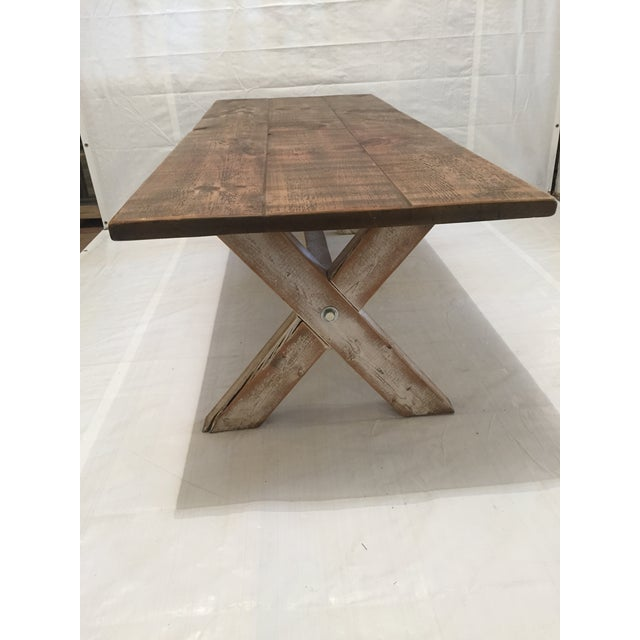 Reclaimed Pine Dining Table - Image 3 of 3