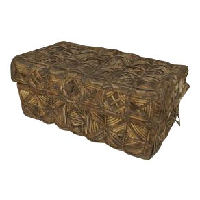 19th Century Peruvian South American Colonial cowhide and leather floor trunk (Bataca) For Sale