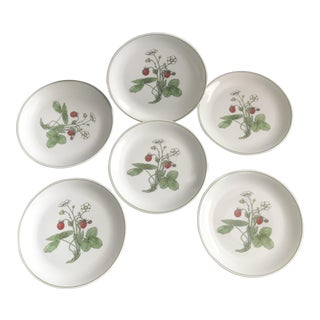 Spal Portugal Red Berries Dessert Plates Exclusively for Horchow - Set of 6