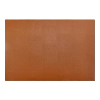 """Leather Desk Blotter in 18"""" x 26"""" in Navy & Tan For Sale"""