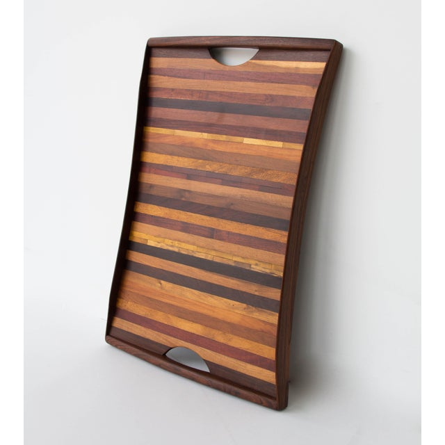 Don Shoemaker for Señal Rosewood Handled Tray - Image 5 of 10