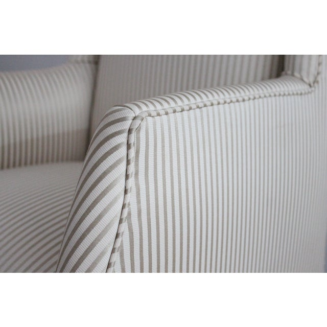 Upholstered Wingback Chairs - Pair - Image 3 of 3