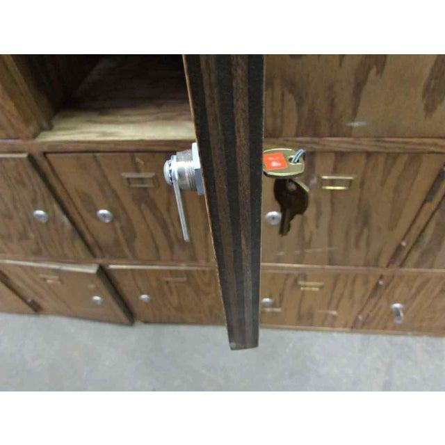 Antique Wooden Locker Unit For Sale - Image 6 of 10