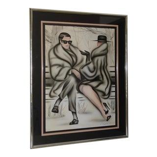 "Erik Freyman Original Airbrush ""Central Park"" Signed / Numbered C.1985 For Sale"