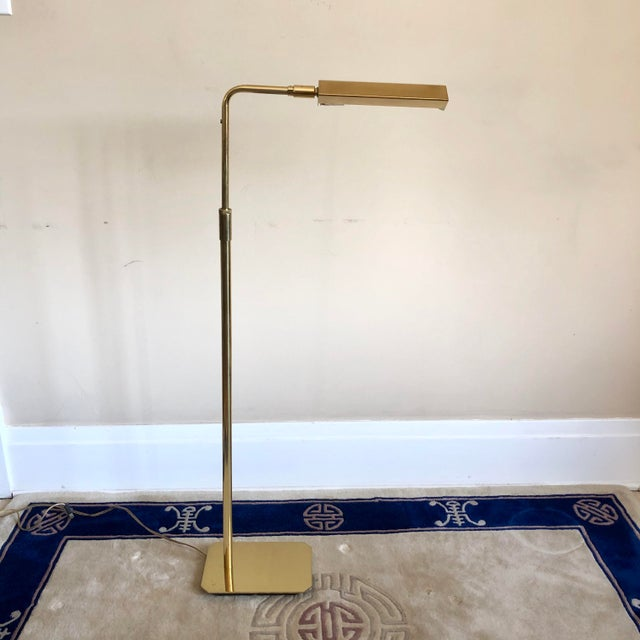 Koch & Lowy Anthony Howard Koch & Lowy Brass Adjustable Floor Lamps- a Pair For Sale - Image 4 of 10