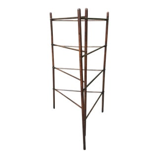 19th Century Primitive Brass Hardware Wooden Drying Rack For Sale