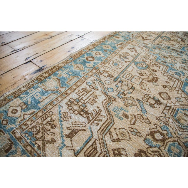 "Distressed Floral Hamadan Rug - 4'3"" x 6'10"" - Image 5 of 5"
