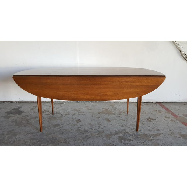 Broyhill Brasilia Walnut Drop Leaf Dining Table - Image 6 of 11