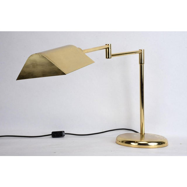 Vintage Brass Plated Table Lamp by Koch and Lowy - Image 2 of 8