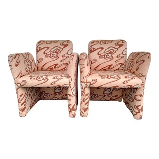 Vintage Preview Upholstered Armchairs - a Pair