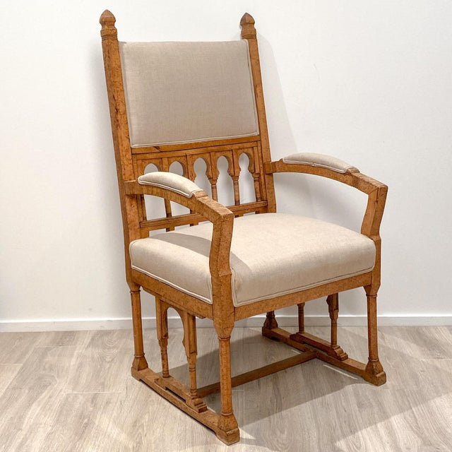 Wood 19th Century Gothic Armchair For Sale - Image 7 of 9