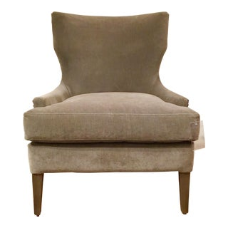 Universal Furniture Transitional Gray Velvet Aubrey Chair For Sale