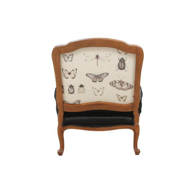 Clarke & Clarke Clarke & Clarke Botanica Upholstered Louis XV Style French Armchairs, a Pair For Sale - Image 4 of 8
