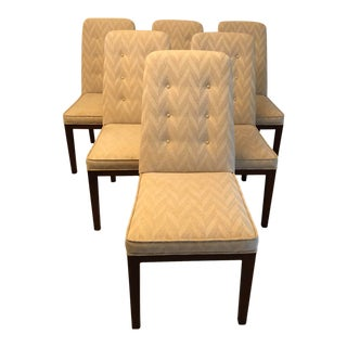 Mastercraft Upholstered Dining Chairs- Set of 6 For Sale