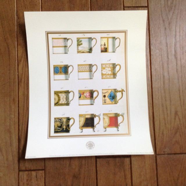 Illustration Sevres Tea Cup Museum Prints - Set of 3 For Sale - Image 3 of 5