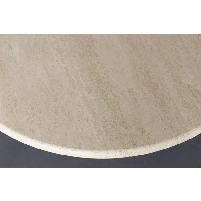 Mid Century Round Travertine Coffee Table - Image 4 of 9