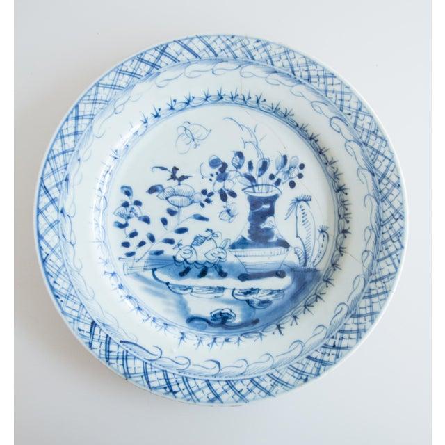Ceramic 19th-Century Antique Delft Plate Staples Restoration For Sale - Image 7 of 7