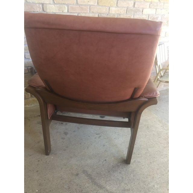 G Mobel Sweden Reclining Lounge Chair & Ottoman For Sale - Image 5 of 11